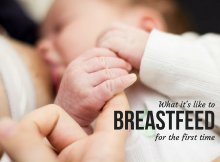 What it's like to breastfeed for the first time
