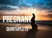 WHAT IT LOOKS LIKE TO BE PREGNANT WITH QUINTUPLETS