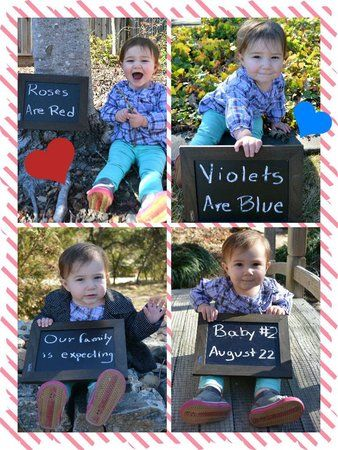 Valentine's Day Pregnancy Announcement with your kids #baby #pregnancy #maternity #announcement #cute #love