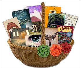 Easter basket for your pregnant wife filled with books