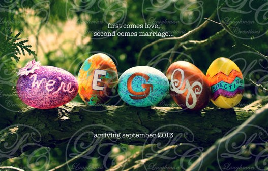 Easter Pregnancy Announcement, Ideas and Inspiration, We're egg-specting