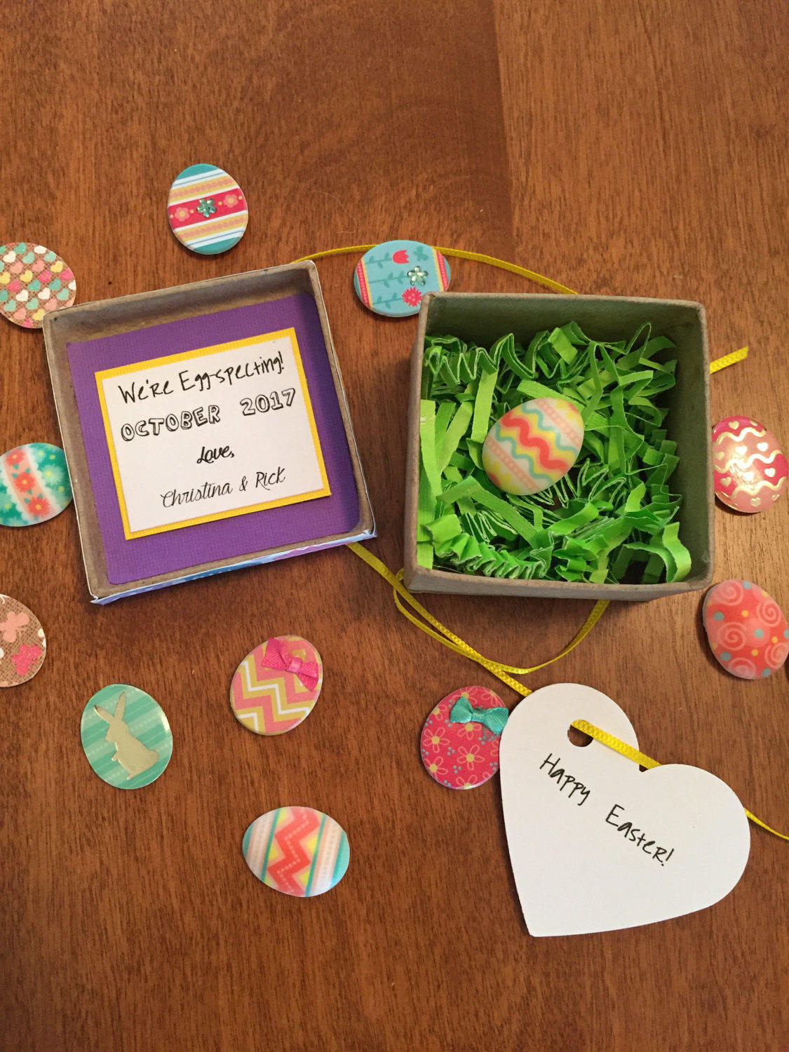 6 easy easter pregnancy announcements ideas easter pregnancy announcement ideas and inspiration egg hunt negle Image collections