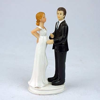 When You Need A Pregnant Bride Wedding Cake Topper