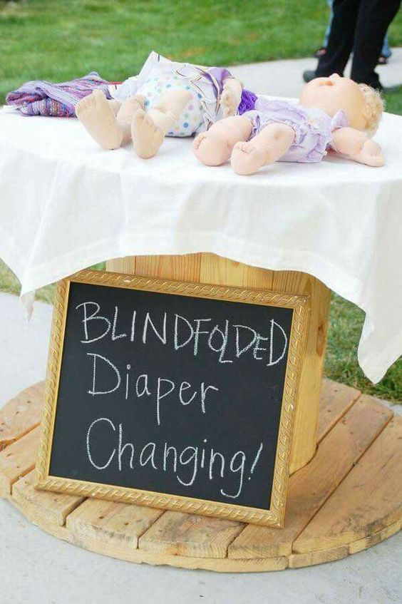 Baby Shower Games, Diaper Changing