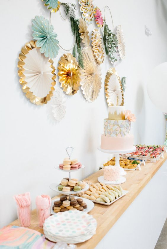 Baby Shower Food Table, Cake Stand, Dessert Table
