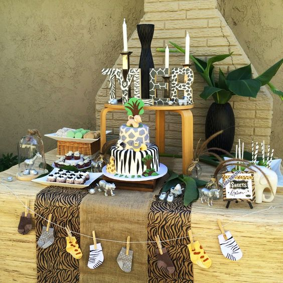 Animal themed Baby Shower, Food Table, Ideas, Inspiration