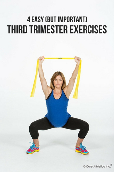 4 EASY (BUT IMPORTANT) THIRD TRIMESTER EXERCISES
