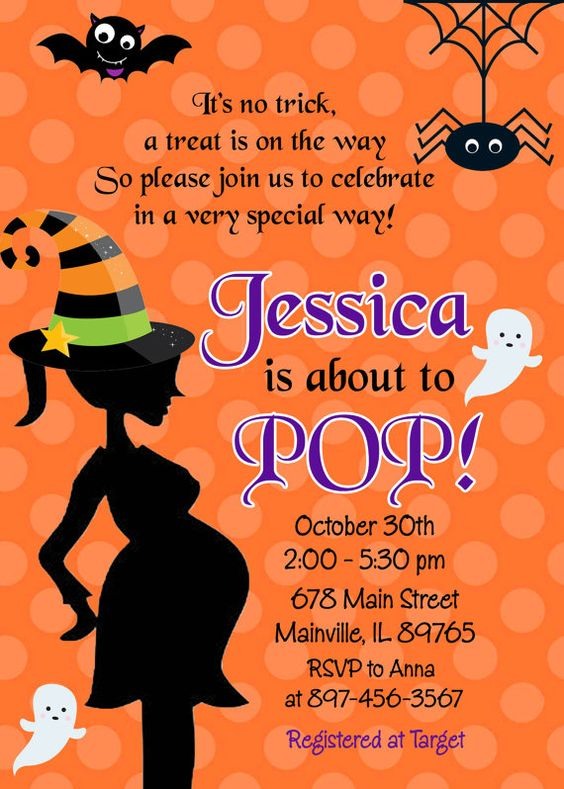 Halloween, Baby Shower, Ideas and Inspiration, Halloween Invitations, About to Pop