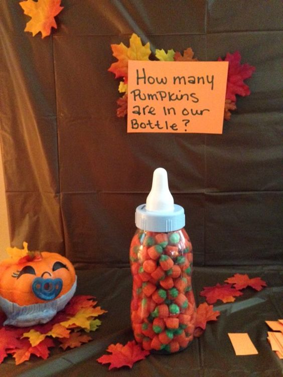 Halloween Baby Shower Games, Ideas and Inspiration, How many pumpkins are in the bottle