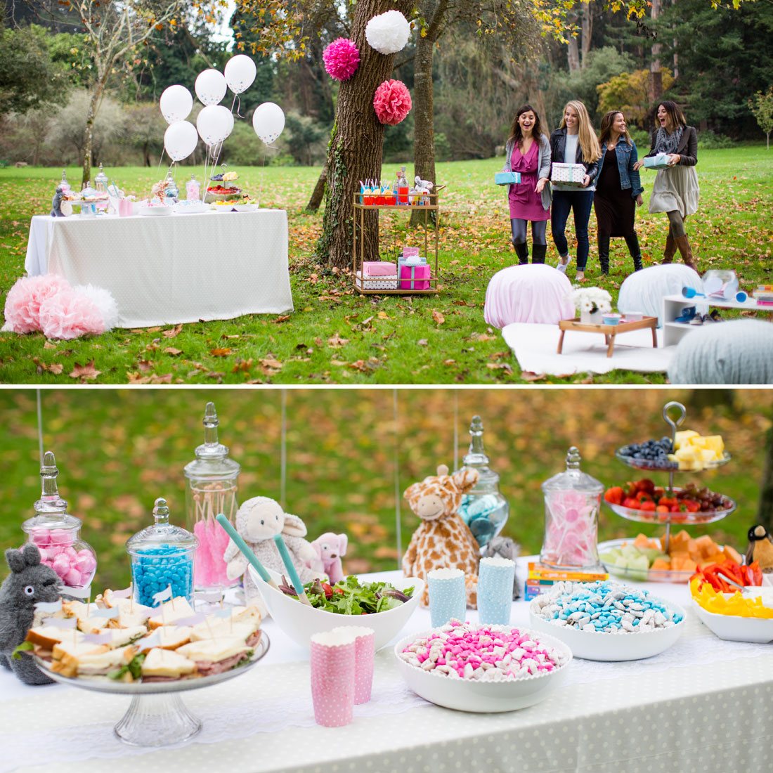Summer inspired outdoor baby shower decoration ideas for Baby shower modern decoration
