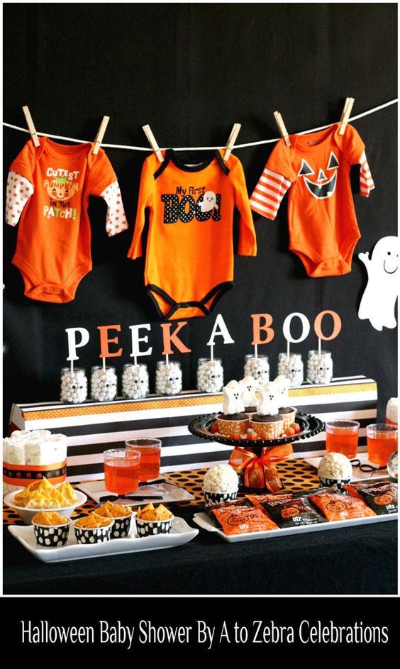 Halloween, Baby Shower Ideas and Inspiration, Halloween Baby Shower, Peek a Boo, Baby, Expectant, Pregnancy