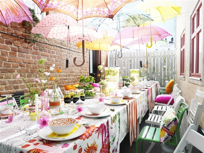 Delightful Baby Shower, Party Decoration Ideas, Umbrellas, Colorful
