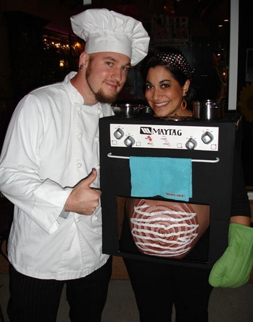 bun in the oven funny pregnant halloween costumes - Pregnant Costumes Halloween