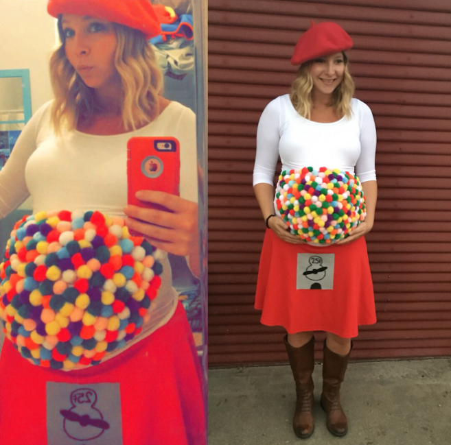 gumball machine funny pregnant halloween costumes