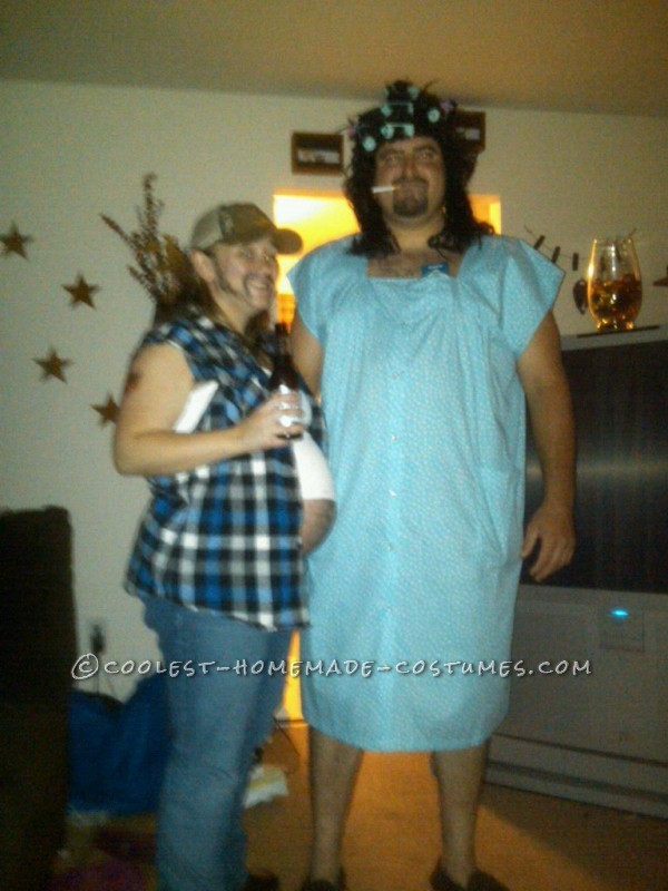 Redneck Guy and His Old Lady halloween costume for pregnant couples