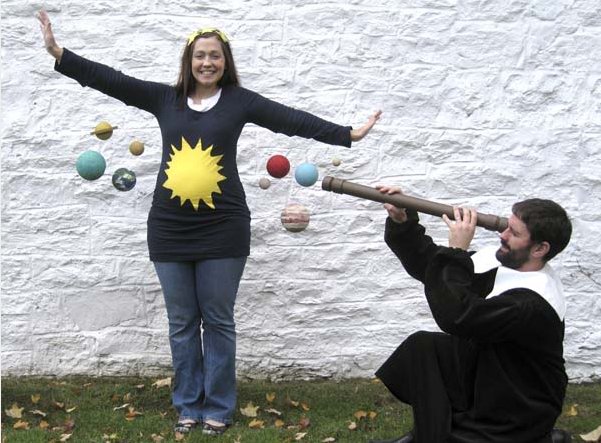 solar-system funny pregnant halloween costumes