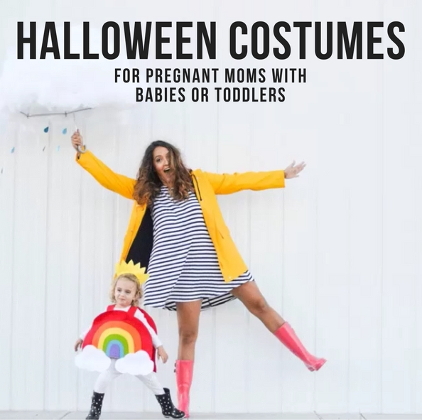 HALLOWEEN COSTUMES FOR PREGNANT MOMS WITH BABIES OR TODDLERS