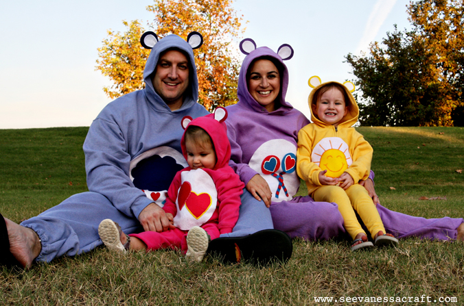 care-bears halloween costume for pregnant moms, family costumes