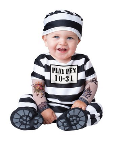 inmate-costume, baby costume ideas