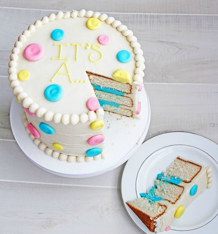 Gender Reveal Cake Decorations