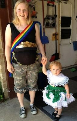 Pot O' Gold halloween costume for pregnant moms