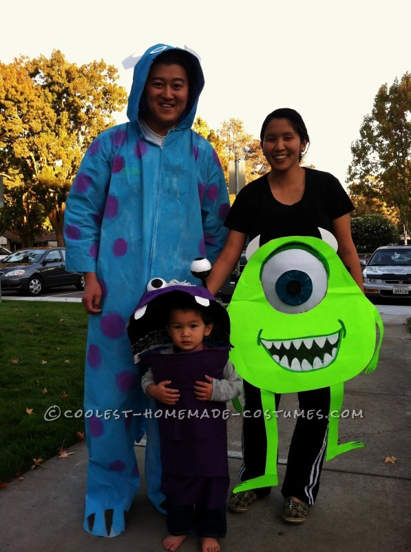Monsters, Inc. halloween costume for pregnant moms