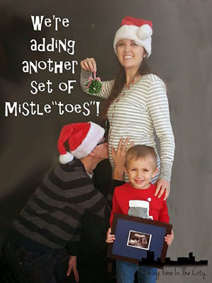 ... Second Pregnancy Announcement At Christmas