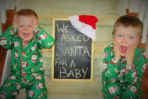 2 brothers christmas pregnancy announcement