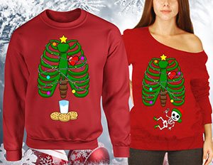 announcing pregnancy with ugly christmas sweater