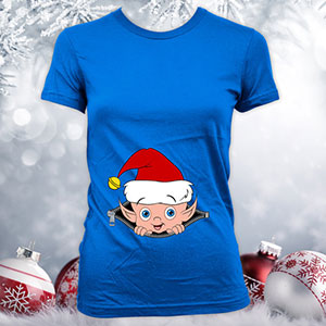 Christmas pregnancy announcement shirts with elf