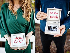 Pregnancy Announcement In Christmas Card Mom And Dad Photo
