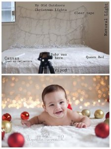 baby christmas photo ideas backdrop