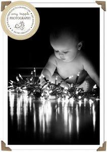 baby christmas photo ideas with lights