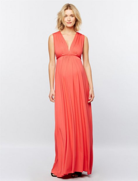 Rachel Pally Shirring Detail Maternity Dress