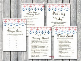 NAUTICAL BABY SHOWER GAMES