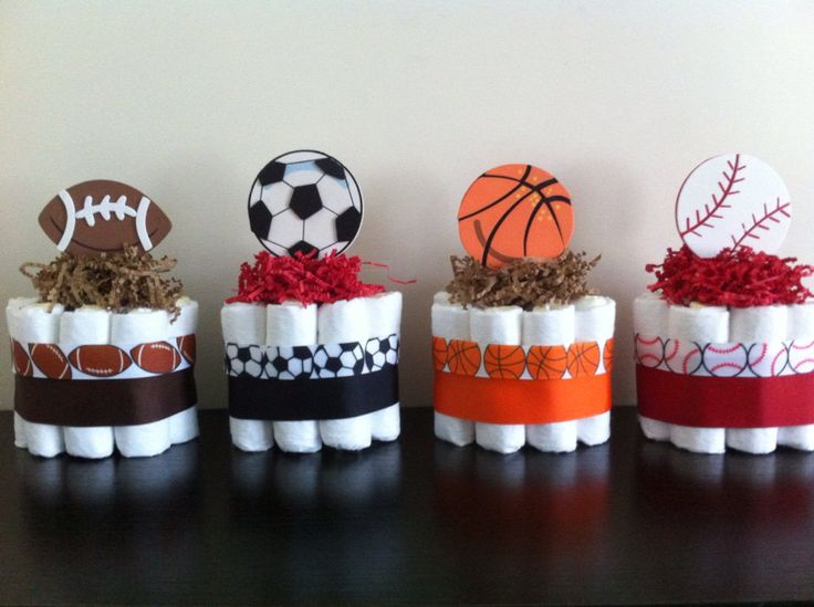 Sports diaper cakes