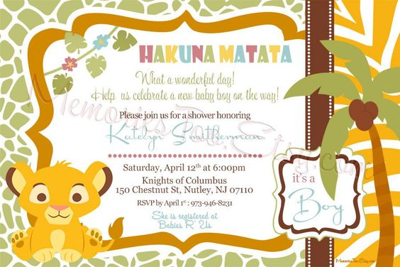 Celebrate the circle of life with a lion king baby shower lion king baby shower invitations filmwisefo Gallery