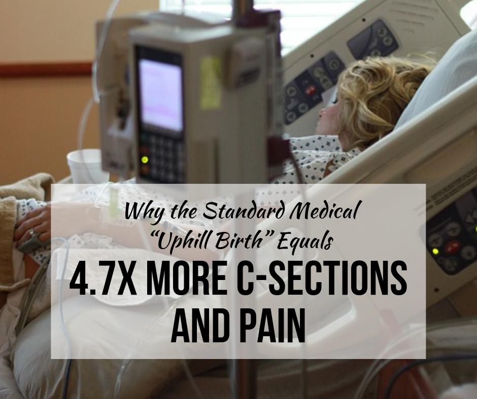 "Why the Standard Medical ""Uphill Birth"" Equals 4.7X More C-Sections and Pain"
