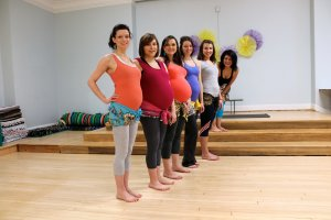 Group of Pregnant Dancers