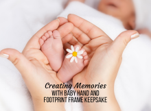 Creating Memories with Baby Hand and Footprint Frame Keepsake