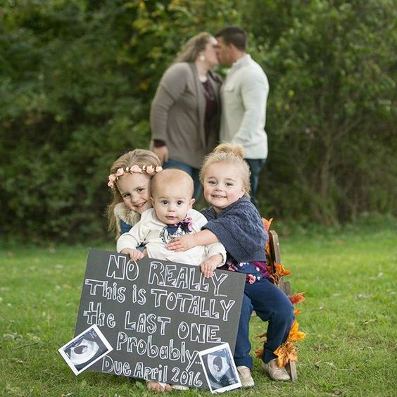 Fun and creative pregnancy announcement ideas and inspiration, baby number four