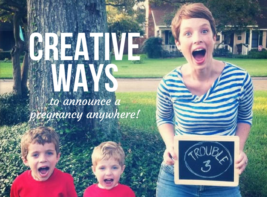 Creative ways to announce a pregnancy anywhere!