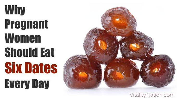 Why pregnant women should eat dates