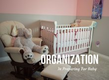 Organization In Preparing For Baby