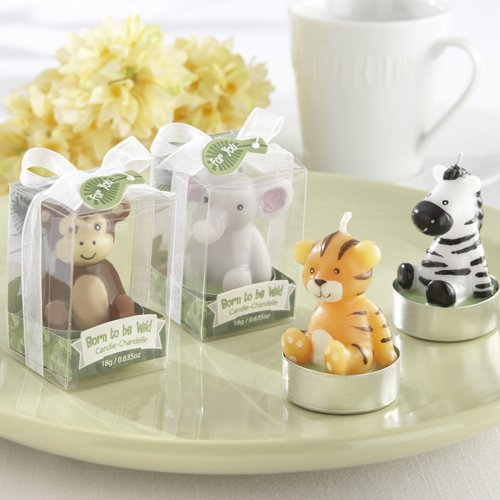 jungle animal candles baby shower favor idea