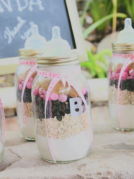 Baby shower favor Bottle Mason Jars idea