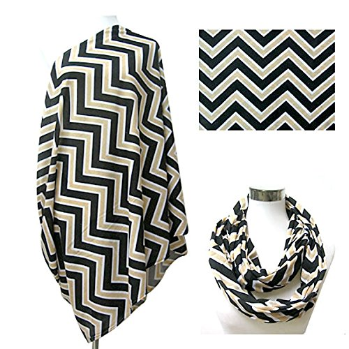 nursing cover scarf in black and white