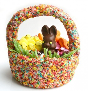 edible easter basket for your pregnant wife with candy