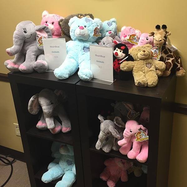 Mother's Day presents from unborn baby heartbeat stuffed animals