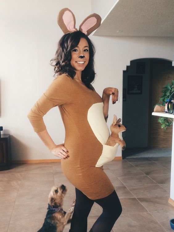 kangaroo pregnant halloween costume idea